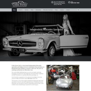 Colin Ferns Mercedes Web Design