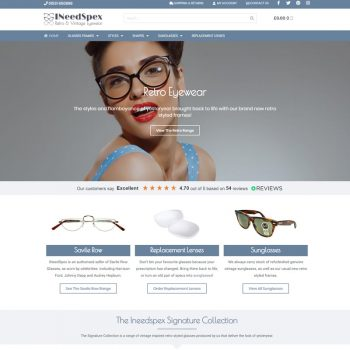 Ineedspex Website Design