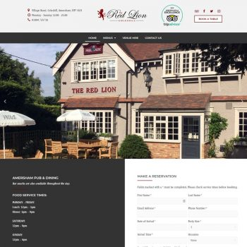 Red Lion Coleshill Website Design