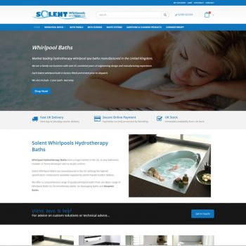Solent Whirlpools and Spas Web Design